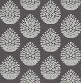 3118-25093 Totem Taupe Pinecone Wallpaper