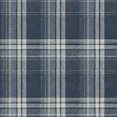 Birch & Sparrow 3118-12674 - Saranac Flannel Wallpaper Navy