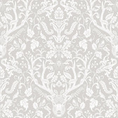 Birch & Sparrow 3118-12701 - Kiwassa Antler Damask Wallpaper Taupe