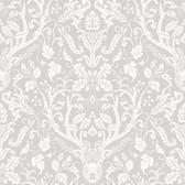 Birch & Sparrow 3118-12701 - Kiwassa Antler Damask Wallpaper Taupe