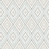 Birch & Sparrow 3118-12712 - Ganado Geometric Ikat Wallpaper Grey