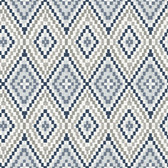 3118-12713 Ganado Navy Geometric Ikat Wallpaper