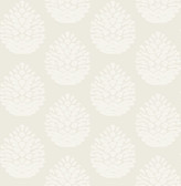 3118-25090 Totem Eggshell Pinecone Wallpaper