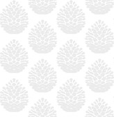 3118-25091 Totem Light Grey Pinecone Wallpaper