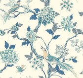Ashford Toiles AF1900 - Fanciful Wallpaper Blue