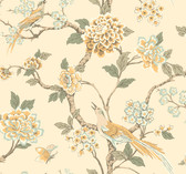 Ashford Toiles AF1904 - Fanciful Wallpaper Yellow