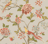 Ashford Toiles AF1905 - Fanciful Wallpaper Silver