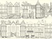 AF1907-Ashford Toiles Brownstone Terrace Wallpaper