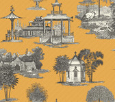 Ashford Toiles AF1916 - Mandarin Wallpaper Yellow