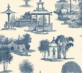 Ashford Toiles AF1918 - Mandarin Wallpaper Gray