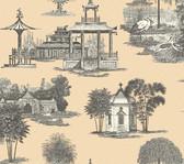 Ashford Toiles AF1920 - Mandarin Wallpaper Beige