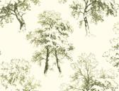 Ashford Toiles AF1923 - Deciduous Wallpaper Green