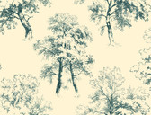 Ashford Toiles AF1924 - Deciduous Wallpaper Yellow