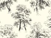 Ashford Toiles AF1925 - Deciduous Wallpaper Black