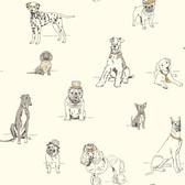 AF1938-Ashford Toiles Dog's Life Wallpaper