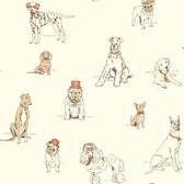 AF1940-Ashford Toiles Dog's Life Wallpaper