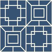 Ashford House AF1969 - Toiles Theorem Wallpaper Navy