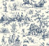 Ashford Toiles AF2000 - Seasons Toile Wallpaper Navy