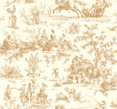 Ashford Toiles AF2001 - Seasons Toile Wallpaper Gold