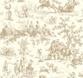 Ashford Toiles AF2003 - Seasons Toile Wallpaper Brown