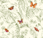 AF2027-Ashford Toiles Papillon Wallpaper