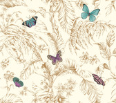 AF2028-Ashford Toiles Papillon Wallpaper