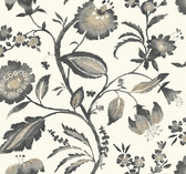 Ashford House AT7018 - Tropics Watercolor Jacobean Wallpaper Grey