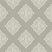 Ashford House AT7027 -  Tropics Henna Tile Wallpaper Grey