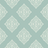 Ashford House AT7028 -  Tropics Henna Tile Wallpaper Aqua