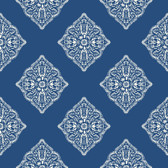 Ashford House AT7030 -  Tropics Henna Tile Wallpaper Blue