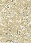 Ashford House AT7034 - Tropics Tahiti Scenic Wallpaper Tan