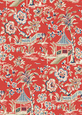 Ashford House AT7037 - Tropics Tahiti Scenic Wallpaper Red
