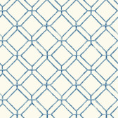 Ashford House AT7043 - Tropics Diamond Bamboo Wallpaper Blue