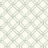 Ashford House AT7044 - Tropics Diamond Bamboo Wallpaper Aqua