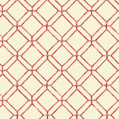 Ashford House AT7045 - Tropics Diamond Bamboo Wallpaper Red