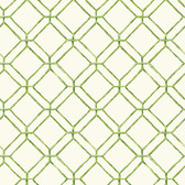 Ashford House AT7046 - Tropics Diamond Bamboo Wallpaper Off White