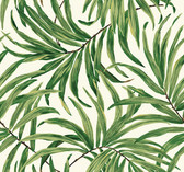Ashford House AT7050 - Tropics Bali Leaves Wallpaper Green