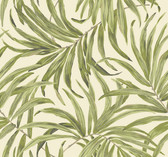 Ashford House AT7051 - Tropics Bali Leaves Wallpaper Cream