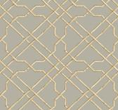Ashford House AT7076 - Tropics Bamboo Trellis Wallpaper Grey