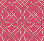 Ashford House AT7079 - Tropics Bamboo Trellis Wallpaper Bright Pink