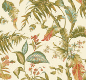 Ashford House AT7090 - Tropics Fiji Garden Wallpaper Khaki
