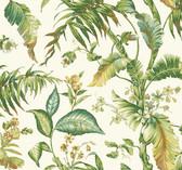 Ashford House AT7091 - Tropics Fiji Garden Wallpaper White