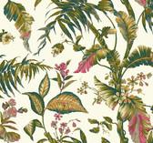Ashford House AT7092 - Tropics Fiji Garden Wallpaper Cream