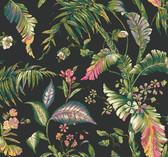 Ashford House AT7093 - Tropics Fiji Garden Wallpaper Black