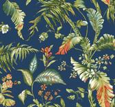Ashford House AT7094 - Tropics Fiji Garden Wallpaper Aqua