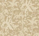 Ashford House AT7108 - Tropics Palm Shadow Wallpaper Brown