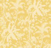 Ashford House AT7109 - Tropics Palm Shadow Wallpaper Yellow