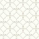 Ashford House SW7493 - Geometrics Threaded Links Wallpaper Pearl
