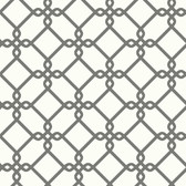 Ashford House SW7494 - Geometric Threaded Links Wallpaper Charcoal