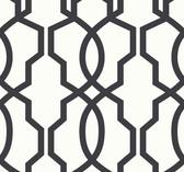 Ashford House SW7498 - Hourglass Trellis Wallpaper Black.